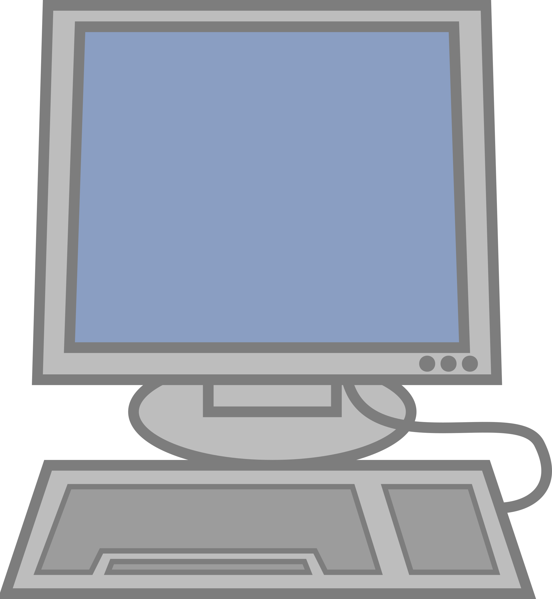 Computer clip art gallery free clipart images