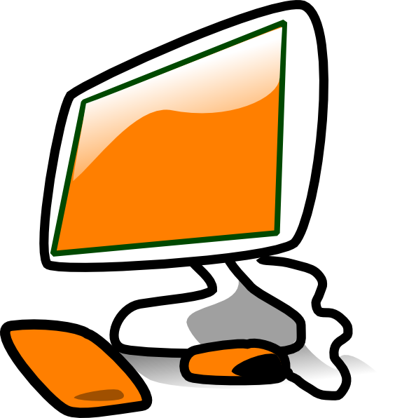 Computer clipart black and white free images 3