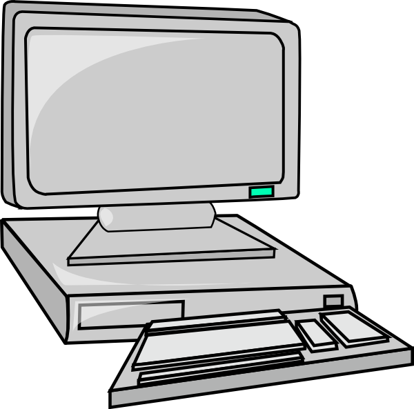 Computer free to use clipart 3