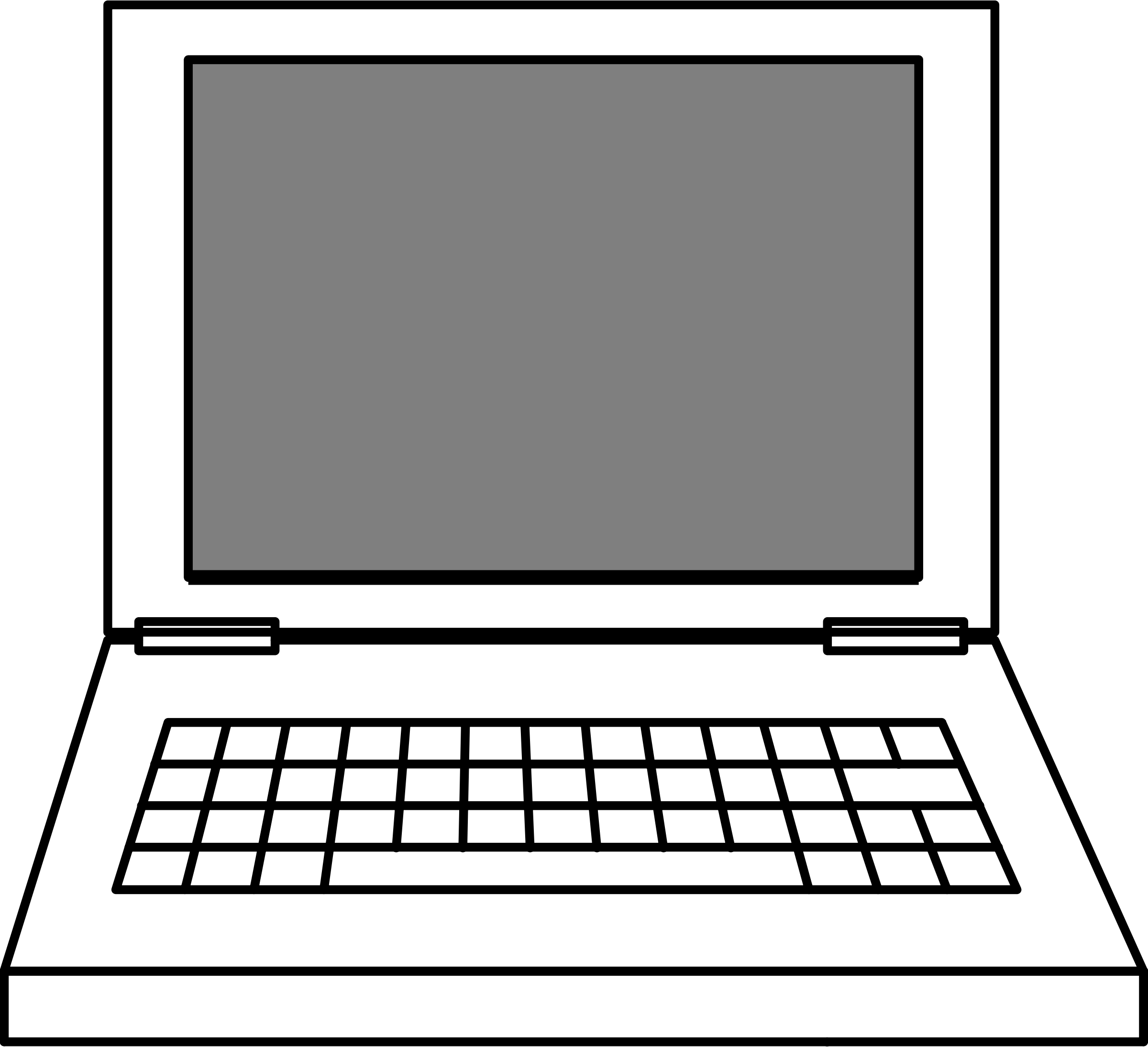 Computer tabletputer clipart free images