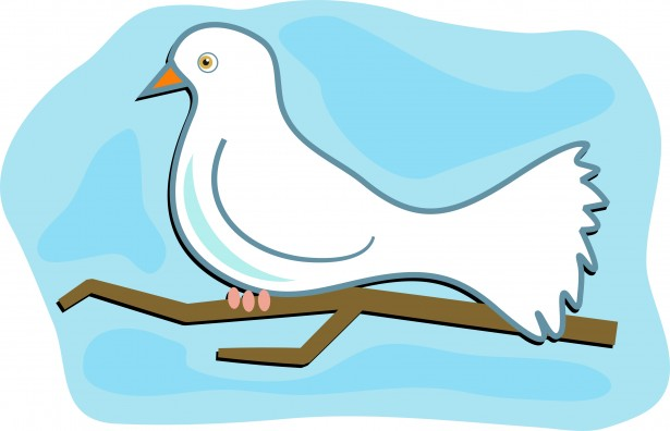 Confirmation symbols dove clipart