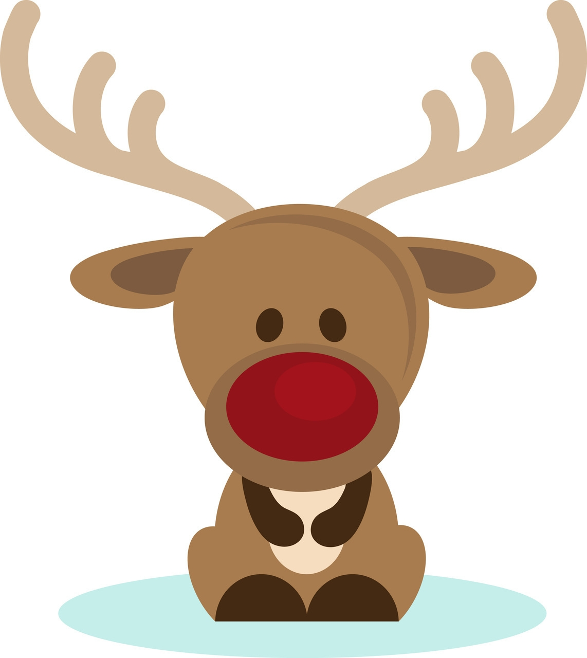 Cute christmas reindeer clipart