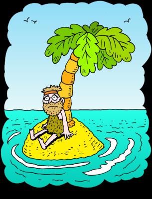 Desert island clipart