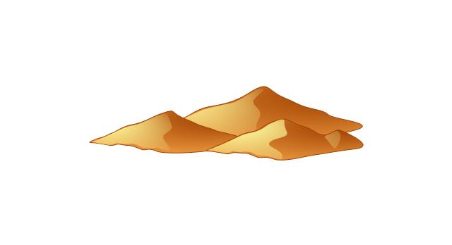 Desert mountain clip art clipart free download