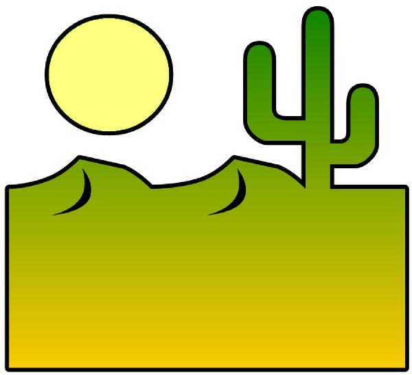 Desert scenes clipart 3