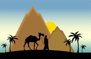 Desert scenes clipart