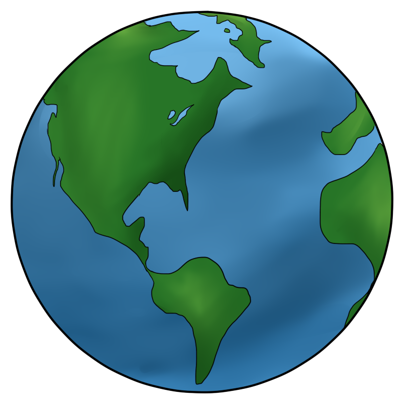 Earth clipart black and white free images 3