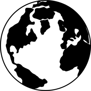 Earth globe clipart black and white free images 2