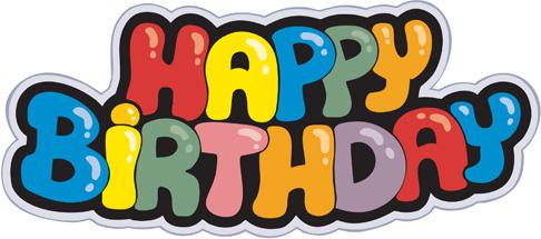 Elegant happy birthday clip art free vector download
