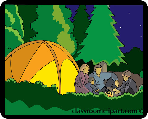 Family camping clipart 4