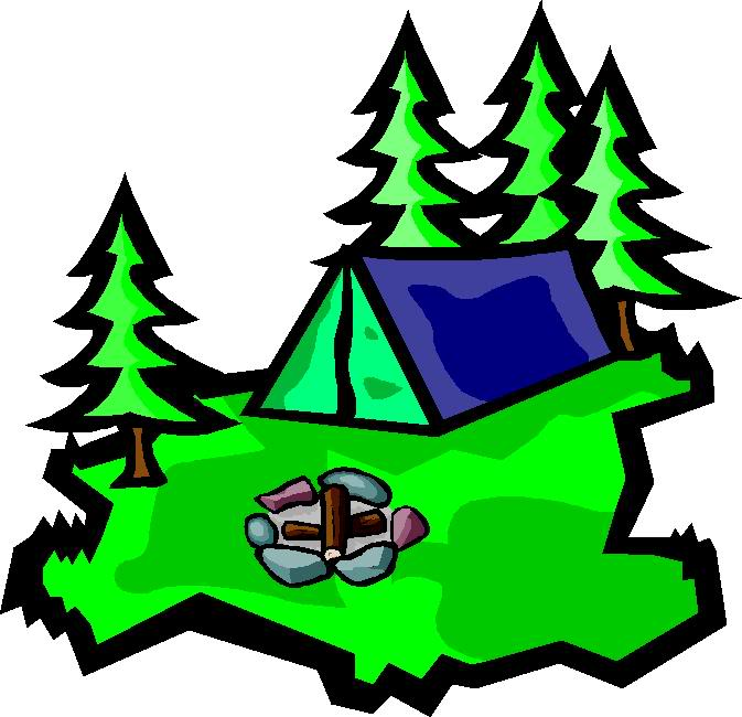 Family camping clipart