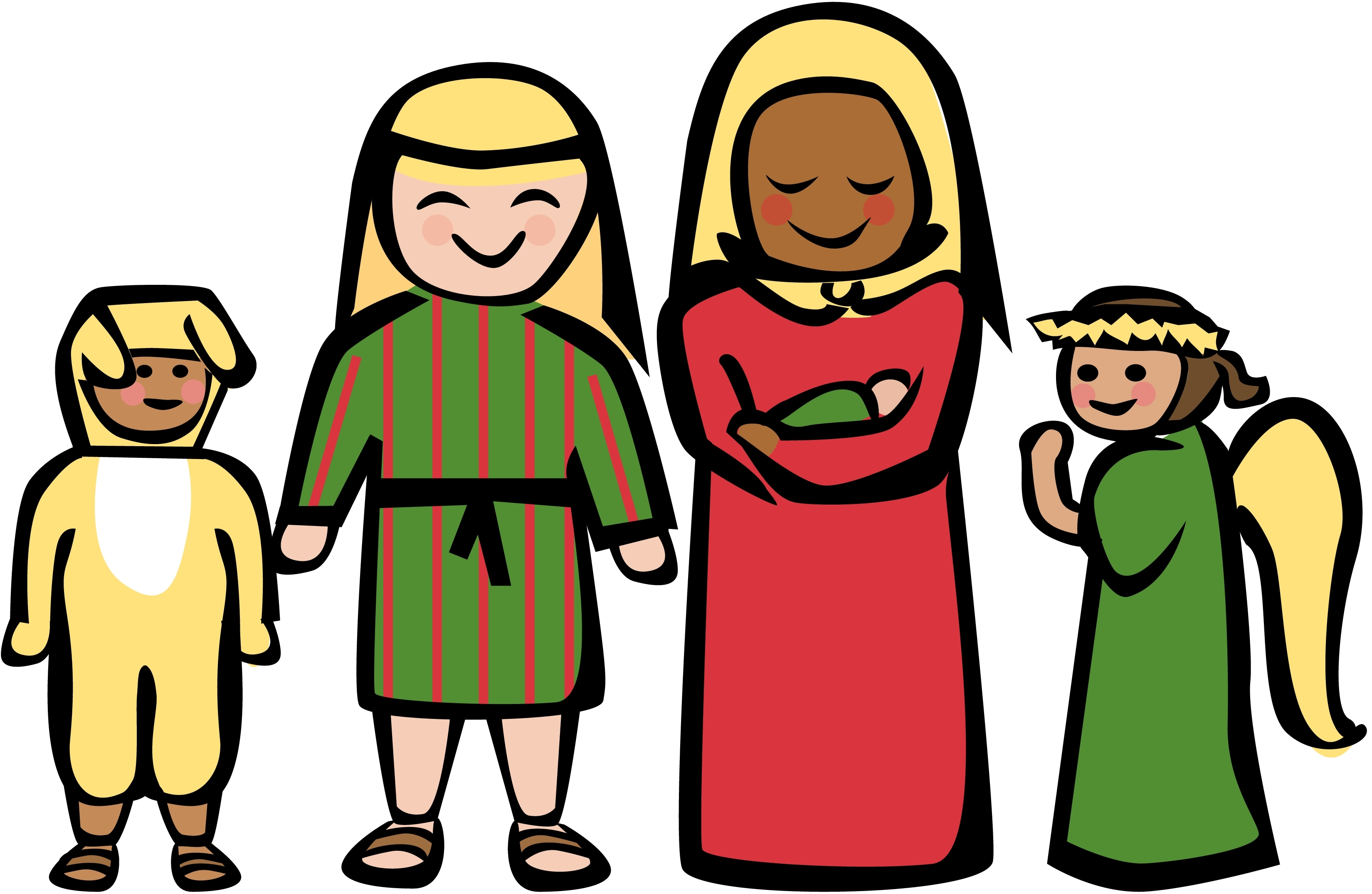 Family of 5 clipart free images 2
