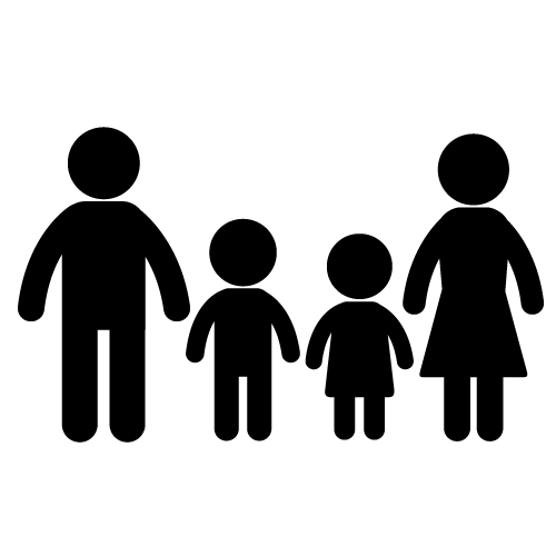 Family silhouette clip art free clipart images 2