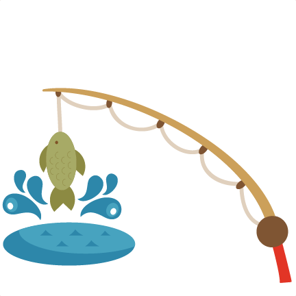 Fishing pole with fish clipart 2