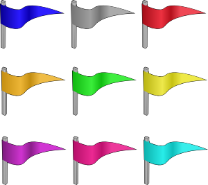 Flag clip art black white free clipart images 2