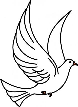 Flying dove clip art clipartfest