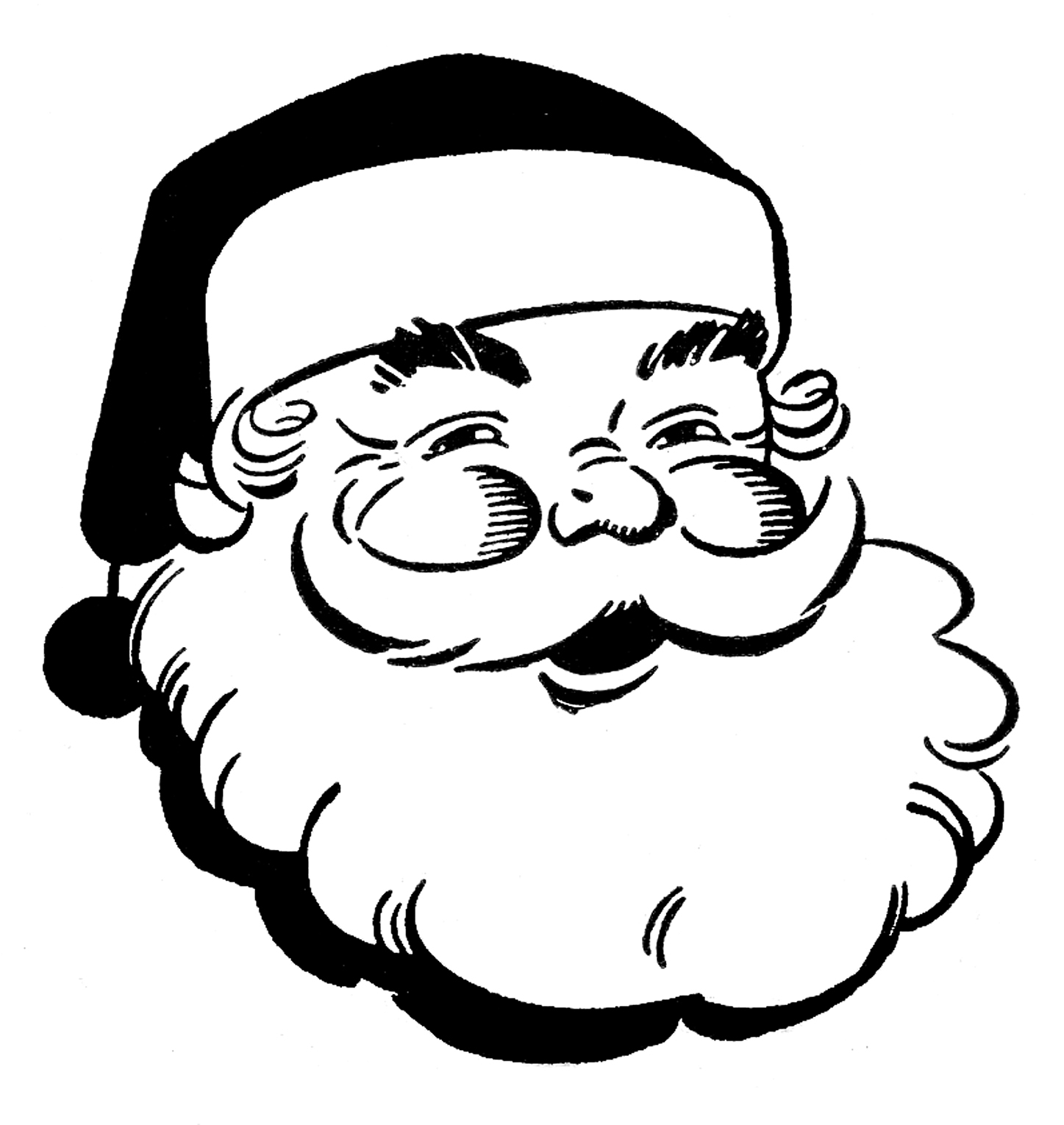 Free black and white clipart for christmas clipartfest