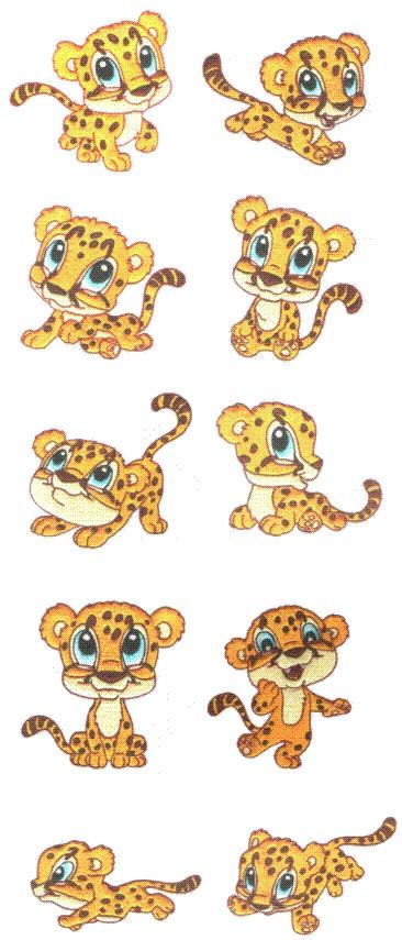 Cheetah Embroidery Designs