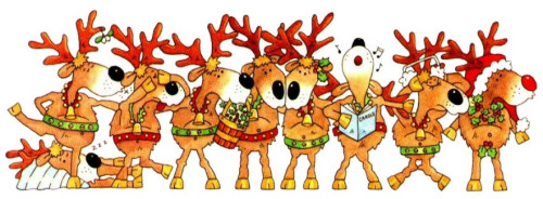 Free christmas reindeers clipart graphics and images 2