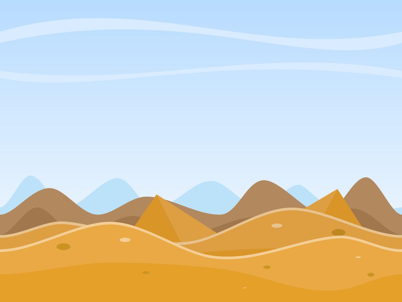 Free desert scene clip art