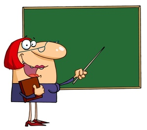 Funny teacher cartoon clipart