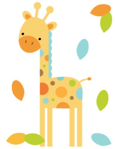 Giraffe baby shower clipart 2