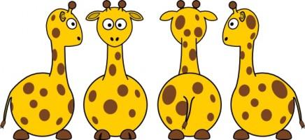 Giraffe black clip art