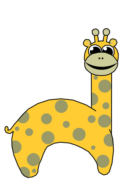 Giraffe clip art free pictures
