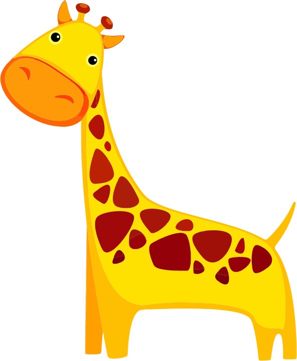 Giraffe free to use clipart 2