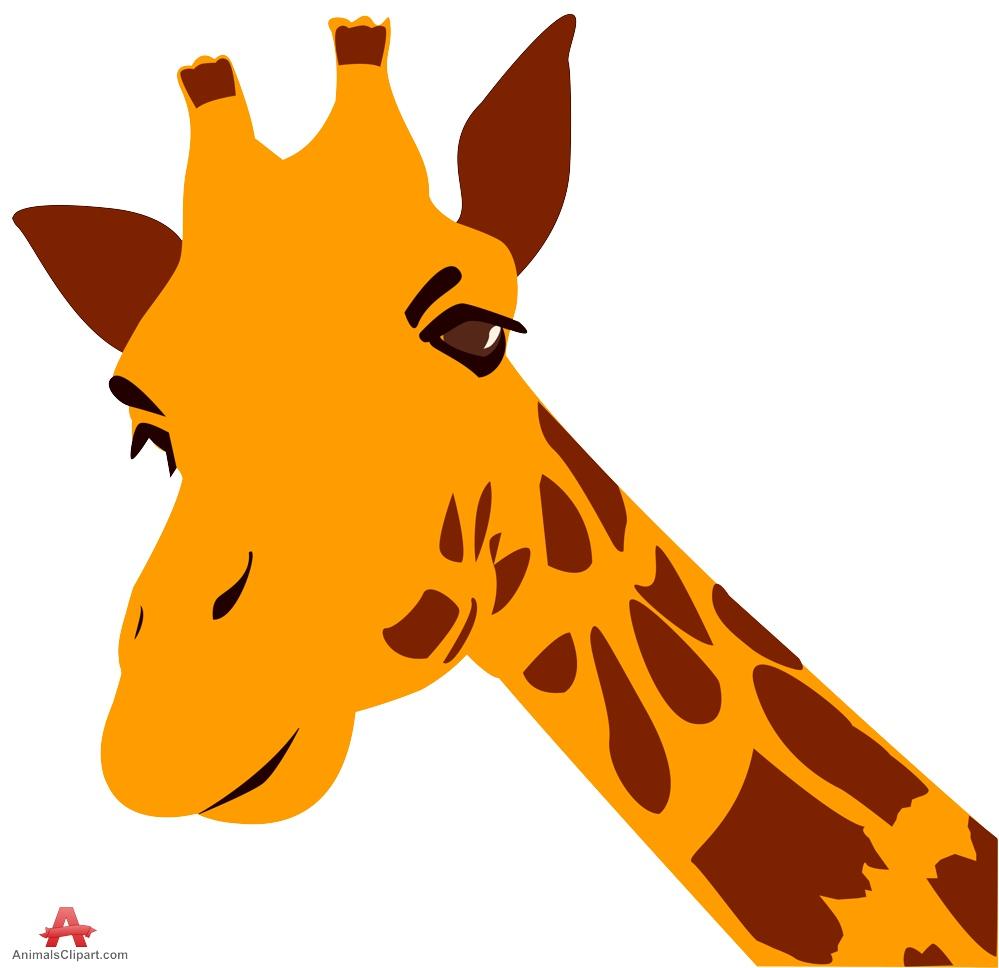 Giraffe head clipart clipartfest