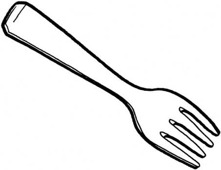 Girl fork clipart