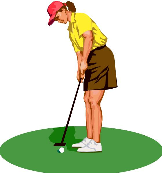 Girl golf clip art free clipart images 2