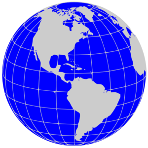 Globe earth on planet clip art and day 3