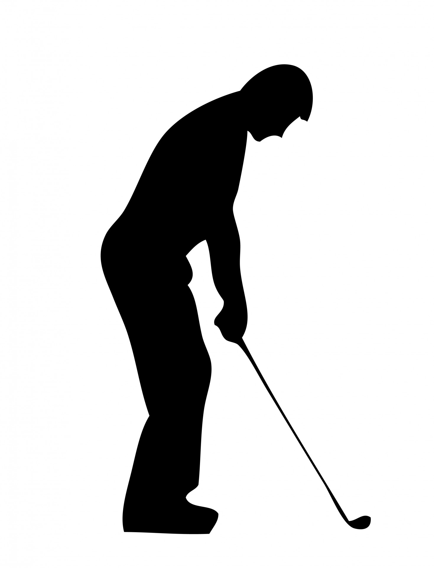 Golf silhouette clipart 3