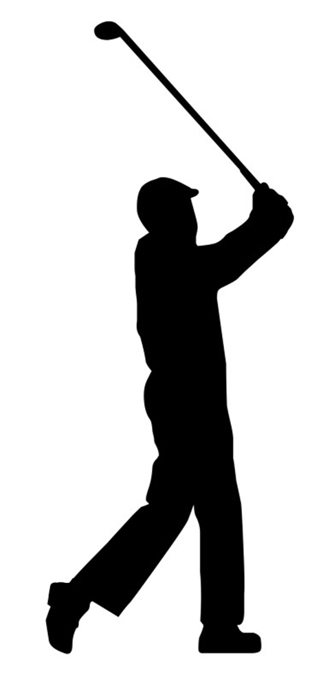 Golf silhouette clipart