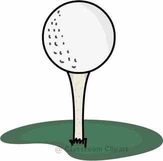 Golf tee clipart 2
