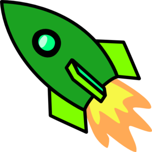Green rocket clipart 2