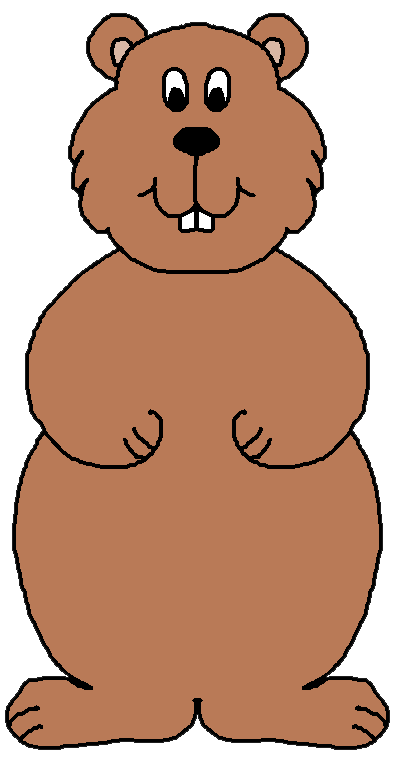 Groundhog clipart free clipart images
