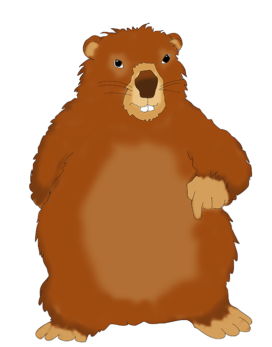 Groundhog day clipart 2