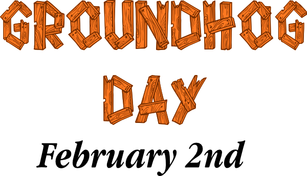 Groundhog day sign clip art at vector clip art