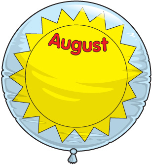 Happy august clipart