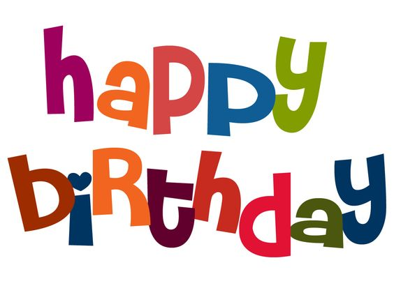 Happy birthday birthdays and virtual card on clip art