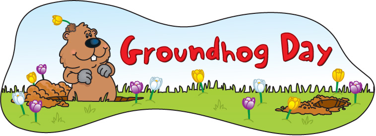 Happy groundhog day clipart