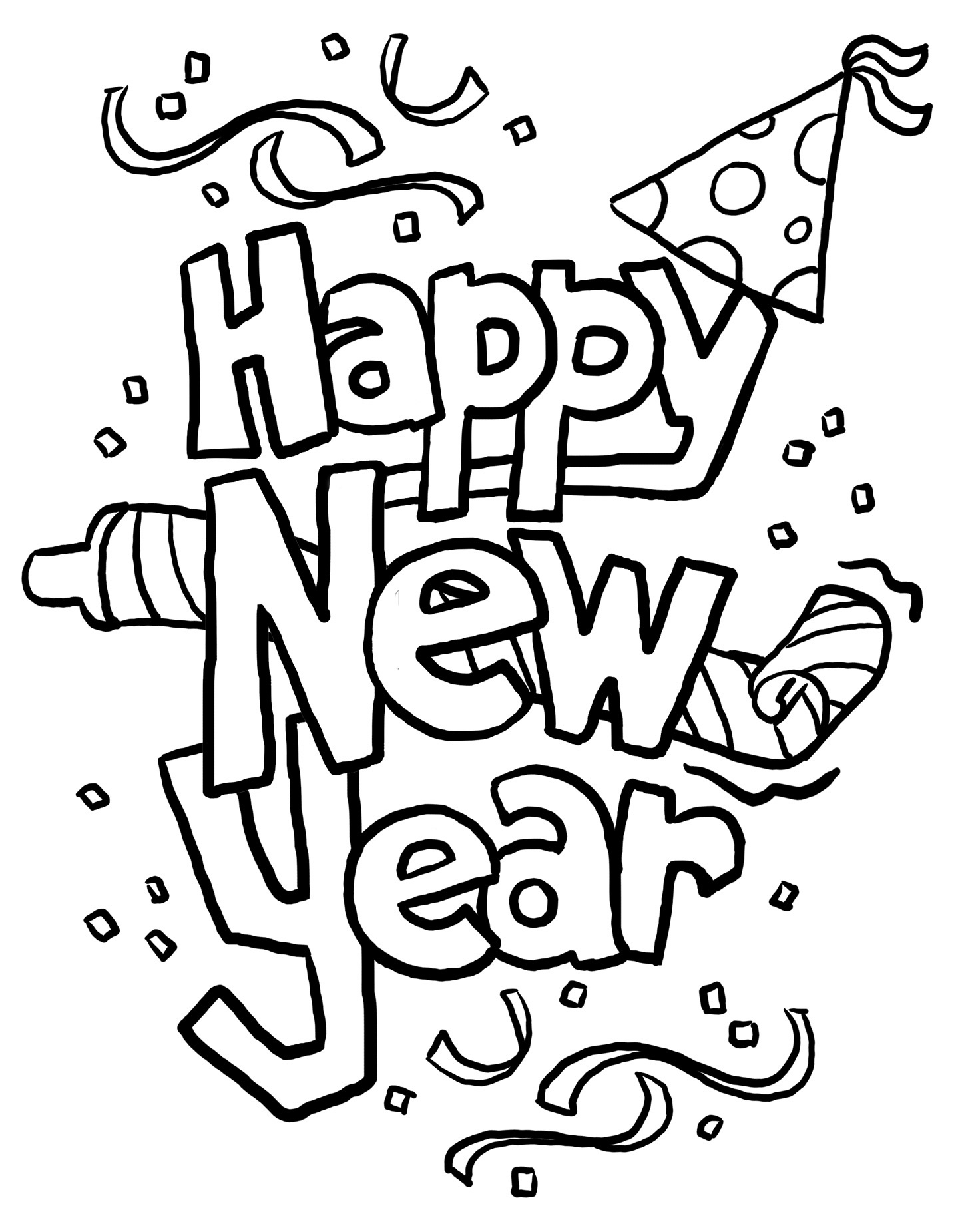 The Best New Year Clipart Black