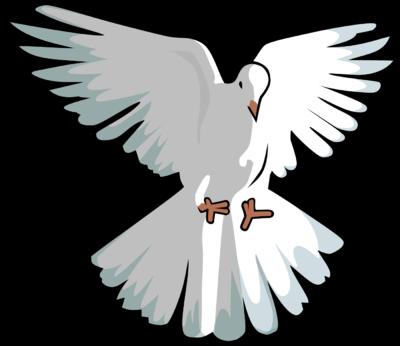 Image hovering dove clip art
