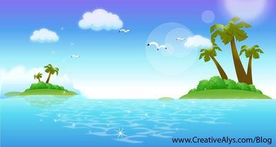 Island clip art vector graphics