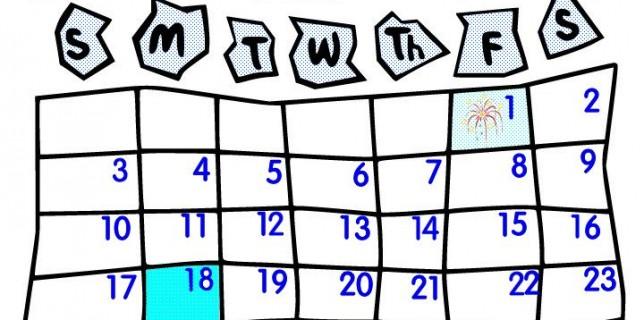 January clipart for calendars idea