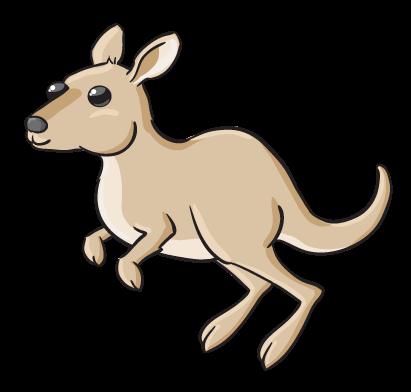 Kangaroo free to use clipart 2
