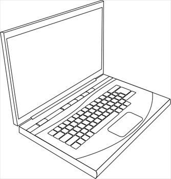 Laptop clip art clipart 3