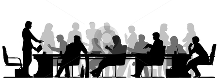 Meeting clip art black white free clipart images 2
